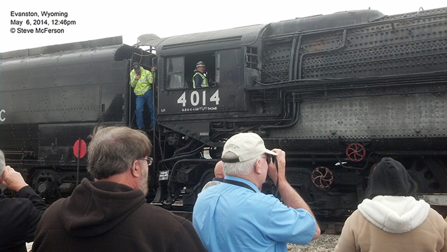 The 4014 in Evanston, Wyoming in May 2014