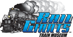 A stylized logo for Rail Giants with a Train.